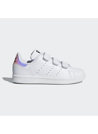 adidas Unisex Çocuk Stan Smith  Spor Ayakkabı AQ6273 Beyaz